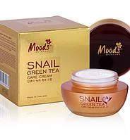 Тайский питательный крем для лица Moods с экстрактом улитки и зеленым чаем, 50 мл