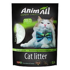 Наповнювач туалетів для кішок AnimAll Green Hill силікагель Зелений пагорб 3.8 л