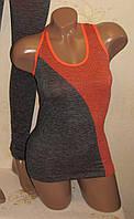 Спортивная женская майка, одежда для фитнеса,  размер 42-50