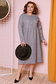 Платье с завышенной талией в гусиную лапку