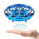"""Квадрокоптер мини """"Летающая тарелка"""" ручной дрон UFO с Led подсветкой избегает столкновений управляется жестам, фото 2"""