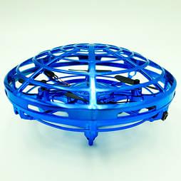 """Квадрокоптер мини """"Летающая тарелка"""" ручной дрон UFO с Led подсветкой избегает столкновений управляется жестам"""