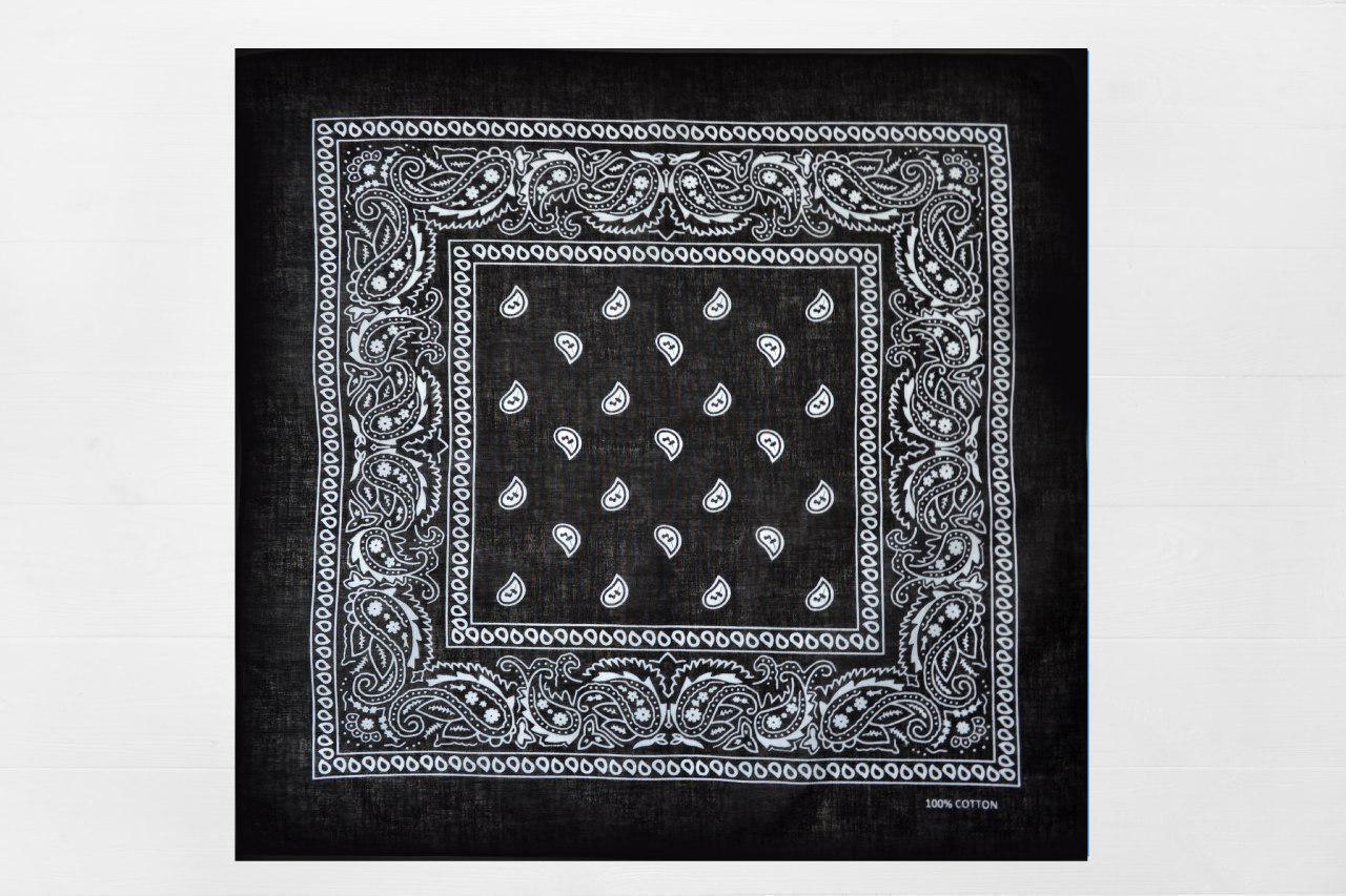 Бандана Классика черная 55*55 (А650)