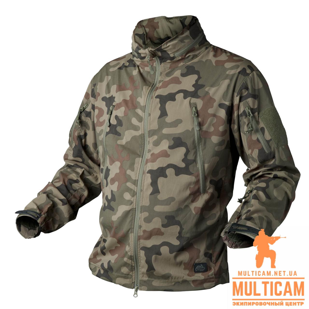 Куртка Soft Shell Helikon-Tex® TROOPER Jacket - StormStretch® - PL Woodland