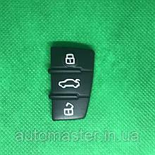 Кнопки выкидного авто ключа для Audi А1, А3, А4, А6, Q7 (Ауді А1, А3, А4, А6, Q7) 3 кнопки
