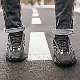 """Стильні чоловічі кросівки Adidas Yeezy Boost 700 V3 """"All Black"""", фото 3"""