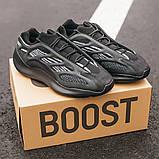 """Стильні чоловічі кросівки Adidas Yeezy Boost 700 V3 """"All Black"""", фото 4"""
