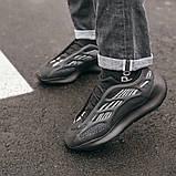 """Стильні чоловічі кросівки Adidas Yeezy Boost 700 V3 """"All Black"""", фото 5"""