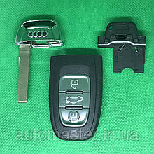 Корпус смарт ключа для Audi А3, А4,A4l, А5, А6, А7, А8, Q3, Q5, Q7 (Ауді) 3 - кнопки