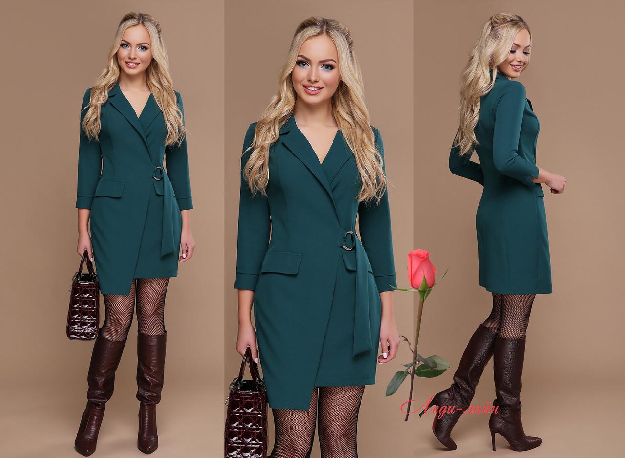 Офисное платье-жакет с рукавом  GL-Полина-ДР