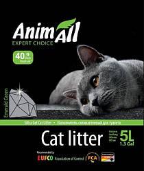 Наповнювач туалетів для кішок AnimAll Emerald Green силікагель Зелений смарагд 5 л