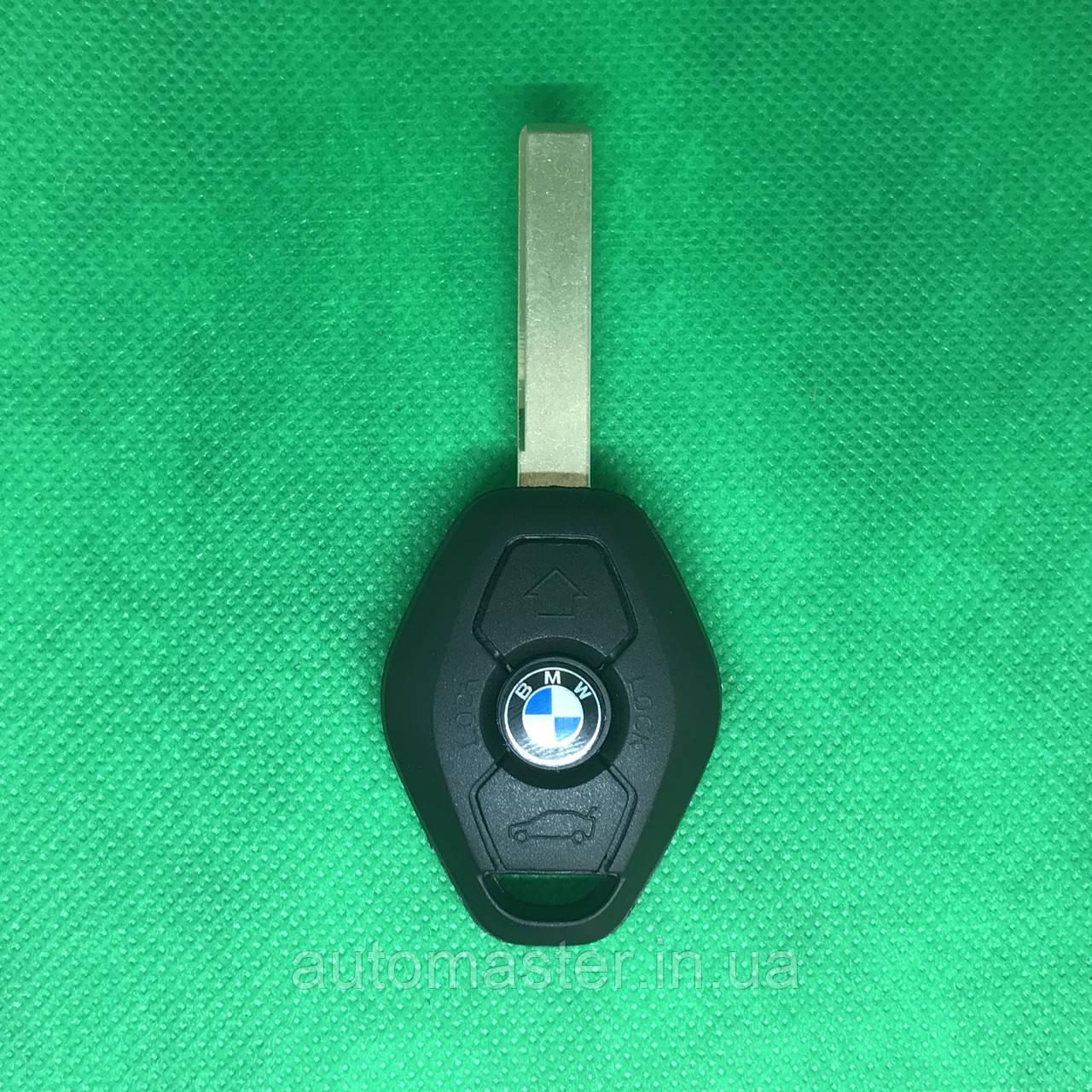 Корпус авто ключа под чип для BMW Е46, Е53, Е60, Х3, Х5 (бмв) лезвие HU 92