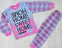 """Детская пижама для девочки """"Sweet home"""" 4-6 лет, малинового цвета"""