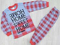 """Детская пижама для девочки """"Sweet home"""" 4-6 лет, красного цвета"""