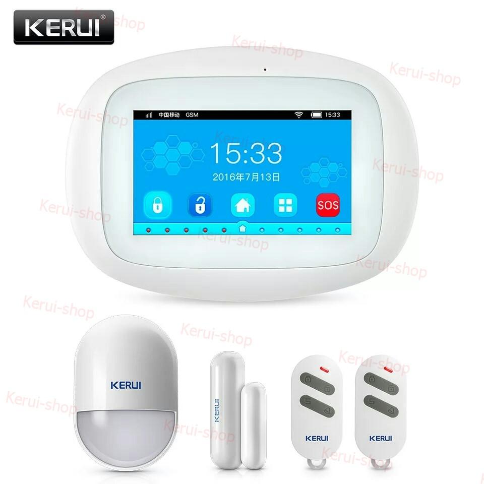 Бездротова сигналізація Kerui KR-K5, 4,3 дюйма, 99 зон, WiFi, 3G для охорони будинку. дачі. офісу, гаража.
