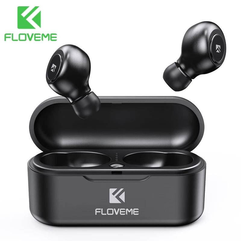 Беспроводные наушники (гарнитура) FLOVEME TWS Bluetooth V5.0 Black