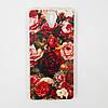 Чехол-бампер TPU силикон для Prestigio PSP7511 Muze B7 DUO Розы красные