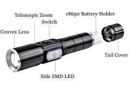 Ліхтар ручний Police WD 292+бокова підсвітка+USB зарядка