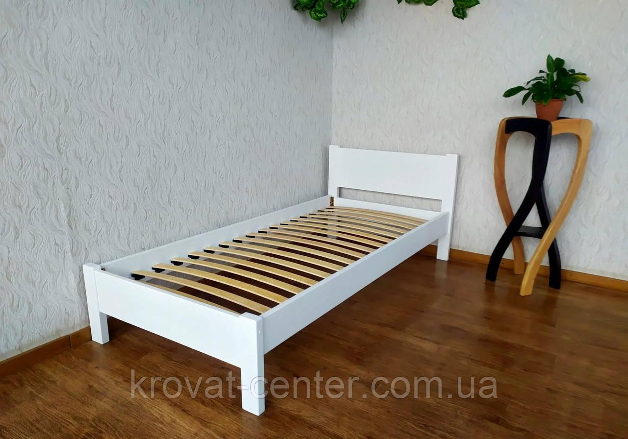 """Белая односпальная деревянная кровать """"Эконом"""""""