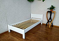 """Белая односпальная деревянная кровать """"Эконом"""" от производителя"""