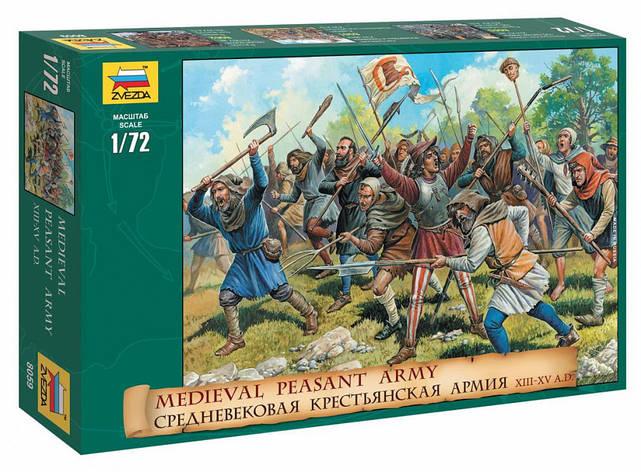 Средневековая крестьянская армия XIII-XV вв. 1/72 ZVEZDA 8059, фото 2