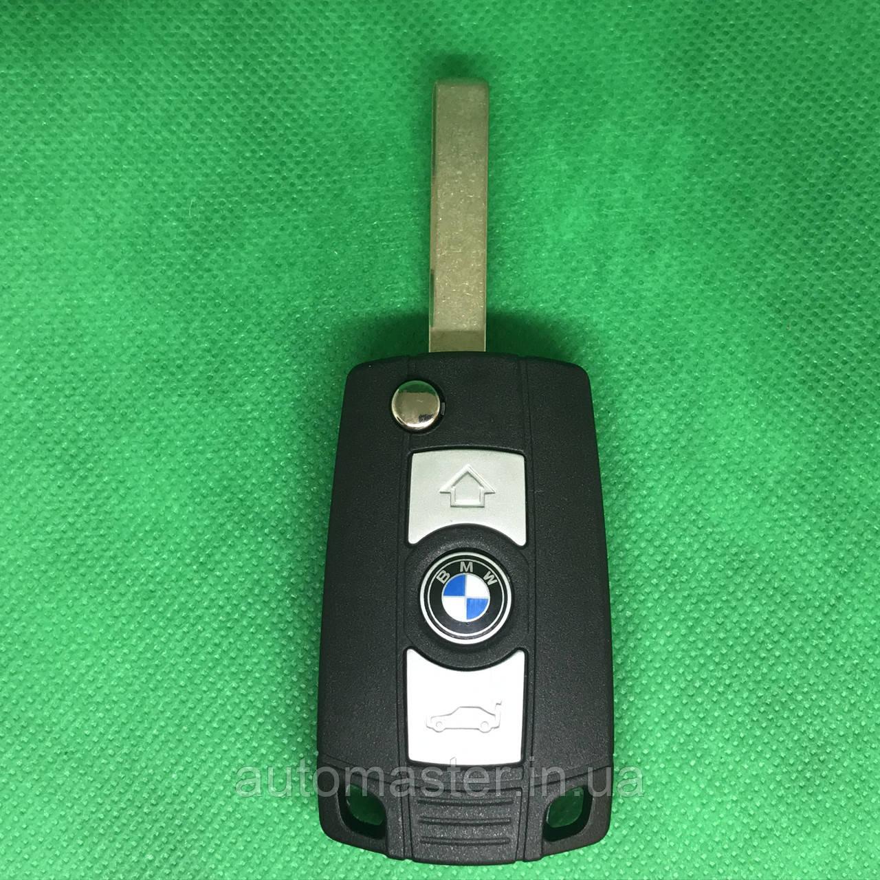 Корпус  ключа для переделки в выкидной ключ для BMW Е46, Е56, Е60, Х3, Х5 (БМВ) 3 - кнопки, лезвие HU92
