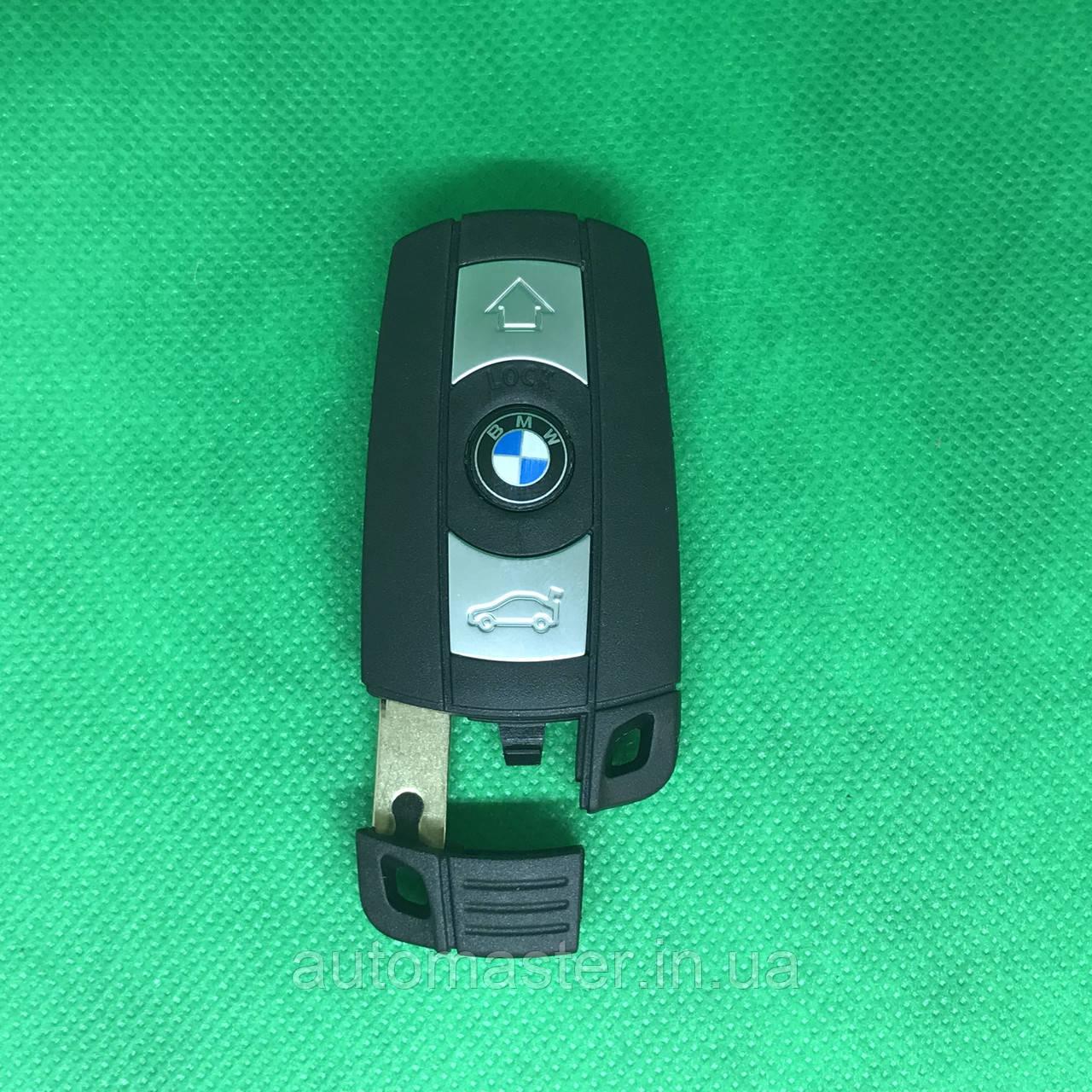 Корпус смарт ключа для BMW Е60, Е65, Е70, Е87, Е90, Х1, Х5, Х6 (БМВ) 3 - кнопки