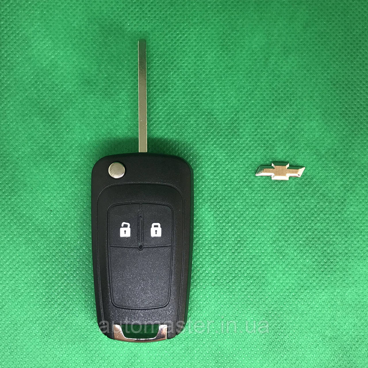 Корпус выкидного ключа для Chevrolet Cruze, Orlando (Шевролет Круз,Орландо) 2-кнопки
