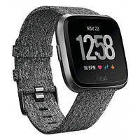 Смарт часы Fitbit Versa Fitness Watch Special Edition Charcoal Woven
