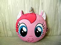 М'яка іграшка-подушка Сплюшка поні рожева 30 см Мягкая игрушка Сплюшка пони розовая