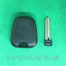 Корпус ключа для Citroen Xsara, Berlingo, Picasso (Сітроен Ксара, Берлінго, Пікассо) 2 - кнопки лезо SX 9
