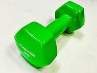 Гантель цельные обрезиненные 4 кг для фитнеса  (1 шт)