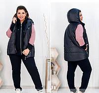 Женский спортивный костюм-тройка - 3 цвета 50-52,54-56,58-60,62-64, фото 1