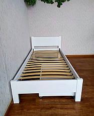 """Белая детская кровать с выдвижным ящиком """"Эконом"""" из дерева, фото 3"""