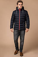 Мужская куртка зимняя темно-синяя с красным Braggart 'Aggressive'.Размер 46-56