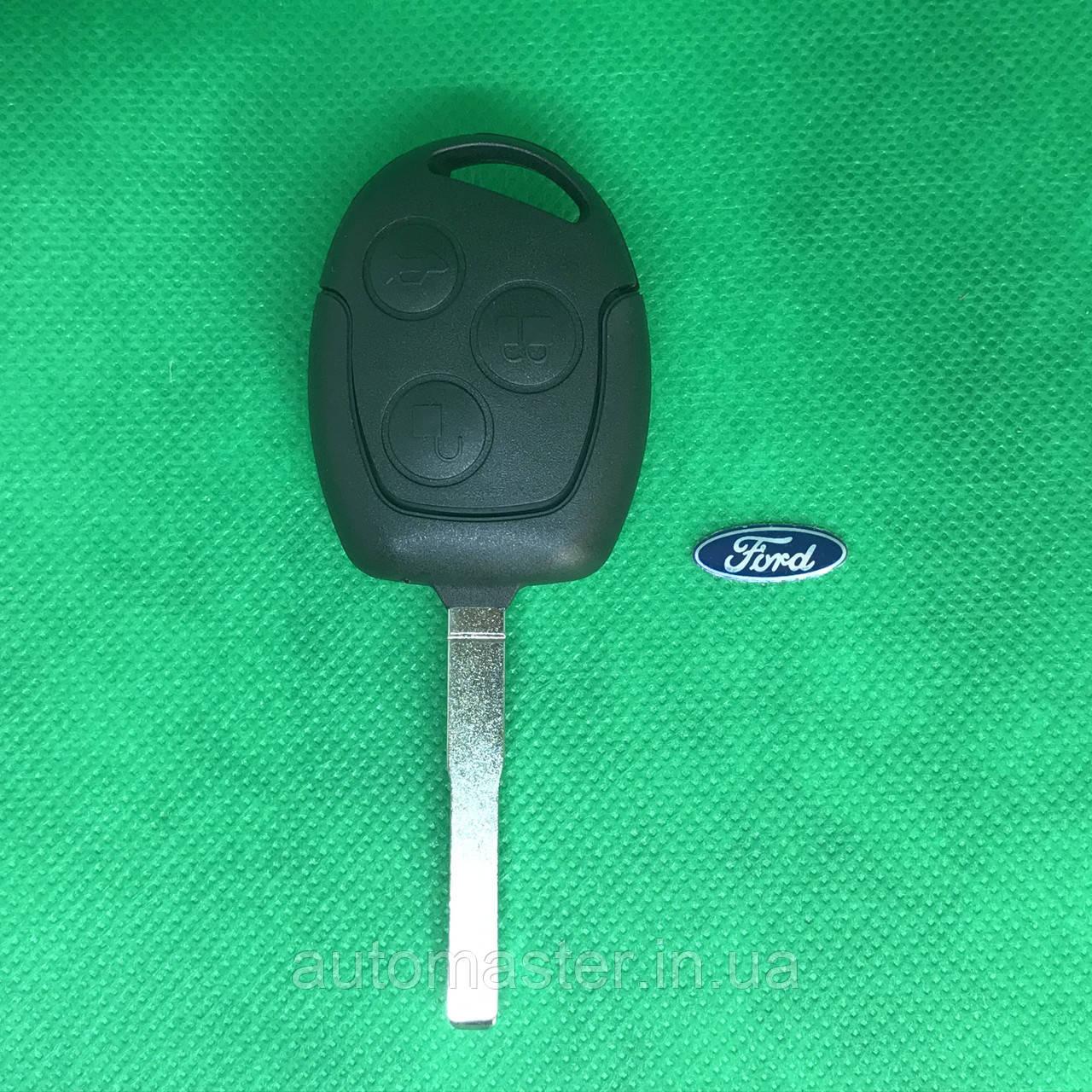 Корпус ключа для Ford (Форд) Focus, Fiesta, Фокус , Фиеста 3 - кнопки, лезвие HU101