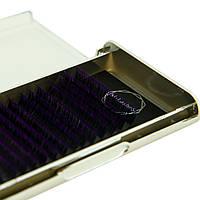 Ресницы омбре цвет фиолетовый M-Lashes 0.07 микс 8-15мм