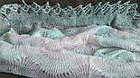 Палантин Гребешок П-00130, розово-серо-голубой, оренбургский шарф (палантин), фото 5