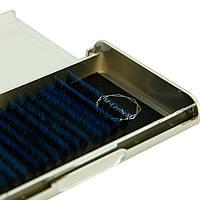 Ресницы омбре цвет синий M-Lashes 0.07 микс 8-15мм