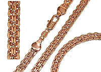 Набор Xuping № Н 017. Плетение Бисмарк. Золото (розовое покрытие). Цепь+браслет.