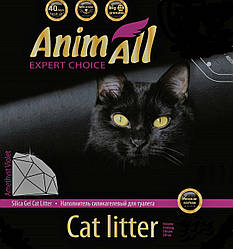Наповнювач туалетів для кішок AnimAll Amethyst Violet силікагель Преміум Фіолетовий аметист 7.6 л