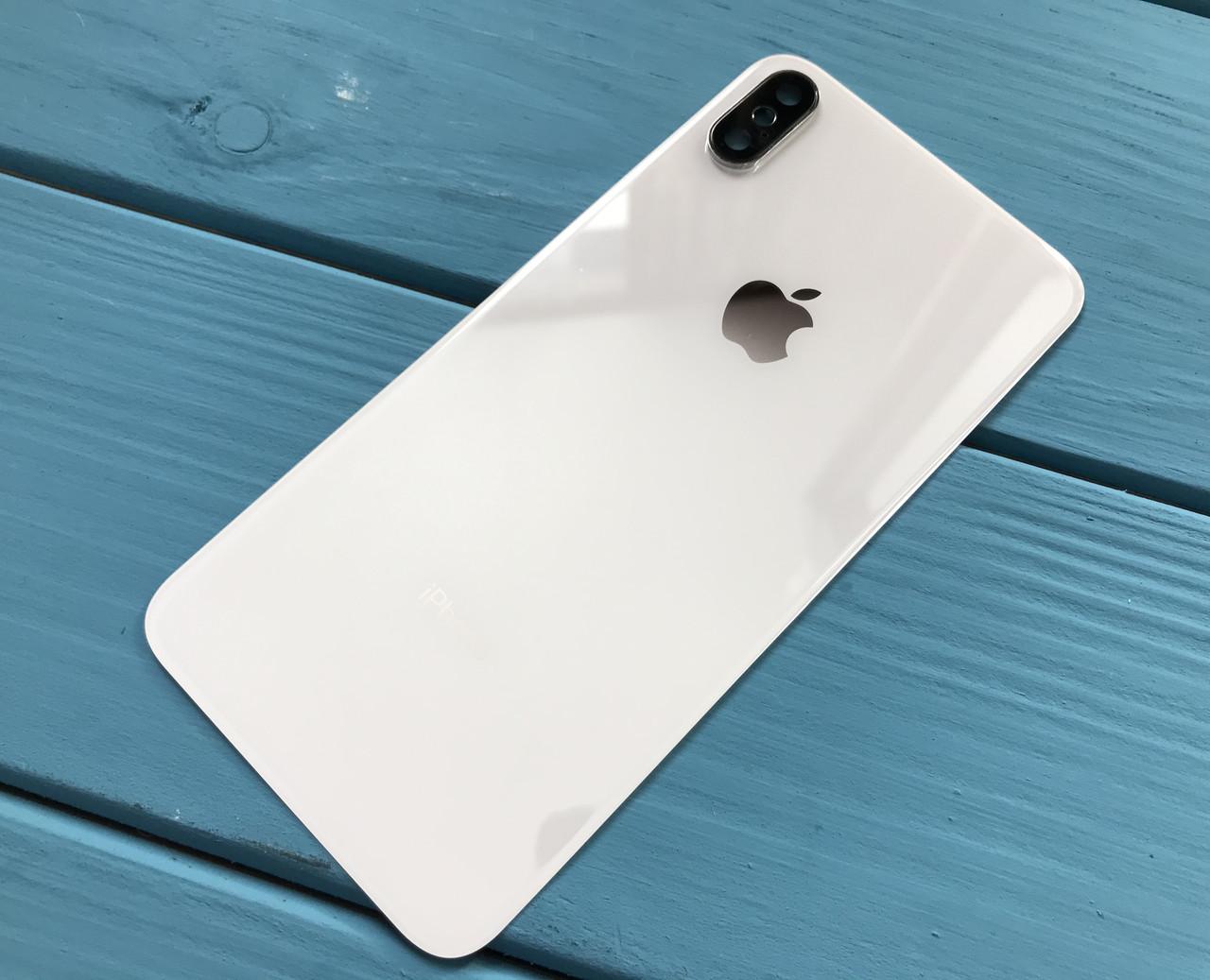 Задняя крышка для Iphone XS Max белый (со стеклом камеры)