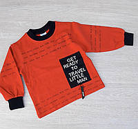 Свитшот детский стильный для мальчика1-4 года, красногоцвета