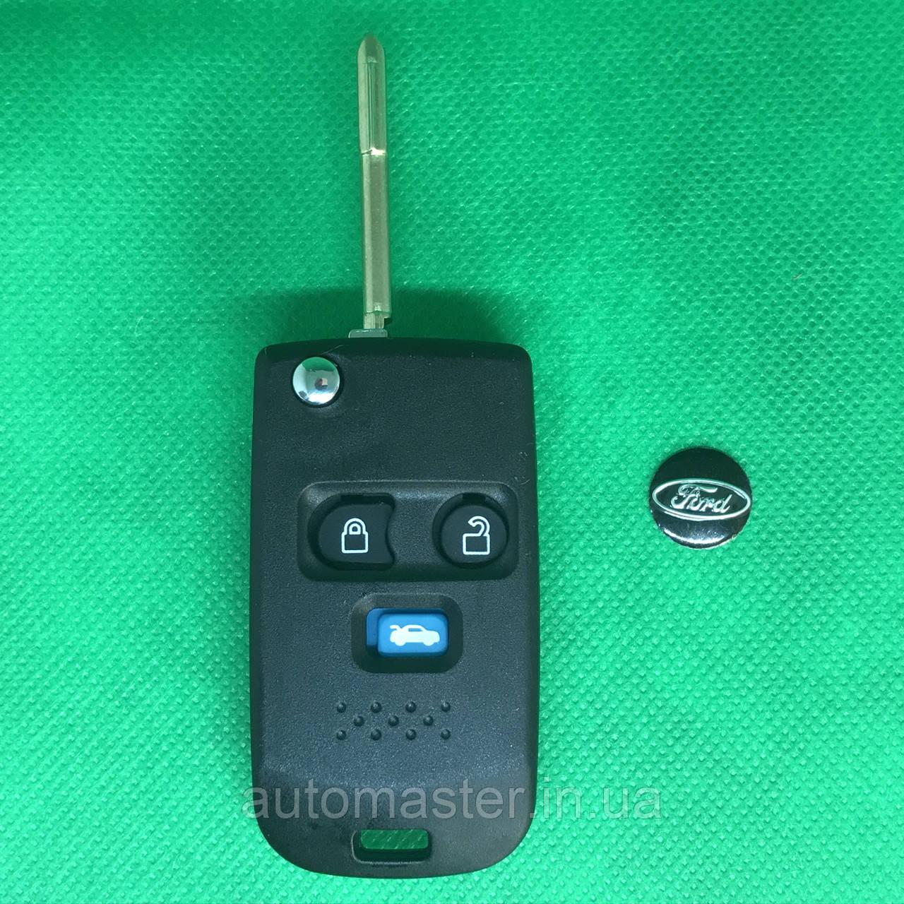 Корпус выкидного ключа для Ford (Форд) Transit под переделку, 3 кнопки