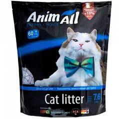 Наповнювач туалетів для кішок AnimAll Aquamarine Blue силікагель Блакитний аквамарин 7.6 л