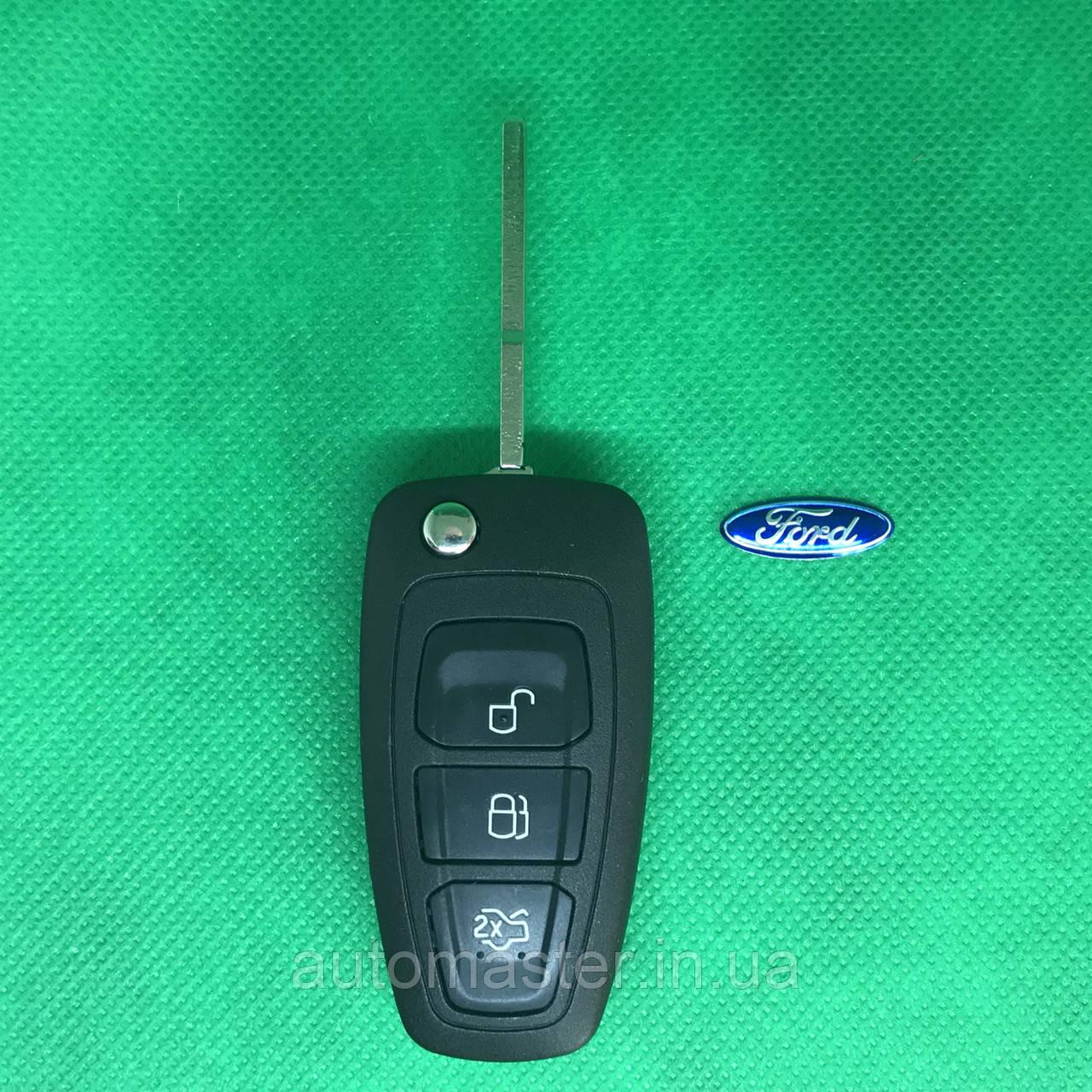 Корпус выкидного ключ для FORD (Форд) Fiesta,Focus,Fusion,Mondeo 3 - кнопки, лезвие HU101