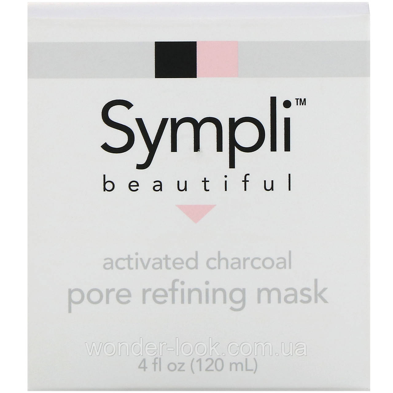 Sympli Beautiful, Маска из активированного угля для очищения пор, 120 мл (4 жидк. унции)