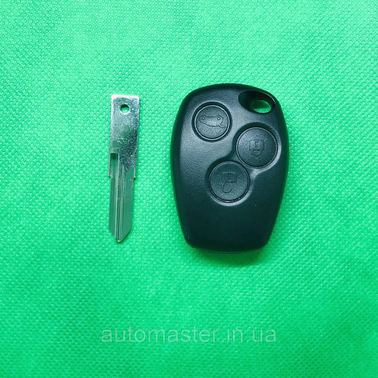 Корпус ключа для RENAULT (рено) Traffic Траффик 3 кнопки, лезвие VAC102