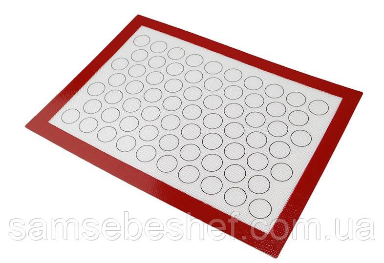 Профессиональный антипригарный силиконовый коврик для выпечки60*40 см