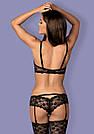 Кружевной чёрный комплект нижнего белья женский, фото 2